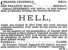 Ad for Speech, Feb. 1878