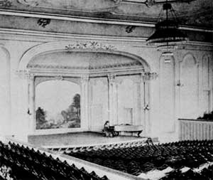 Interior of Lincoln Hall, c. 1880