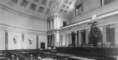 Supreme Court in Old Senate Chamber, c. 1900