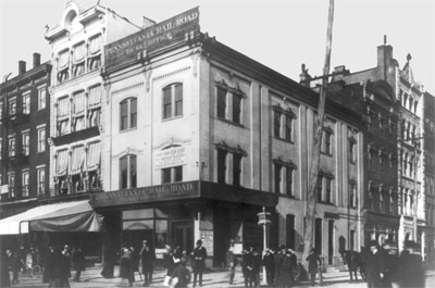 1st Law Office, Near 15th and G Streets, N.W., c. 1901 (likely black or white building on far right)