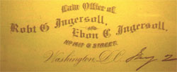 Law Office Letterhead, 1878