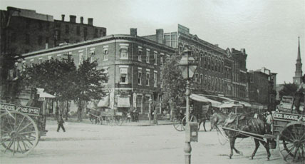 Proximity of 2nd Law Office, New York Avenue and 15th Street, N.W., c. 1885