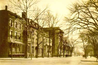 25 Lafayette Square, Now Madison Place, c. 1899 (2nd house from corner)