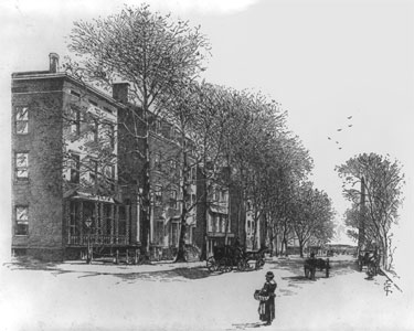 Drawing of Madison Place, c. 1899