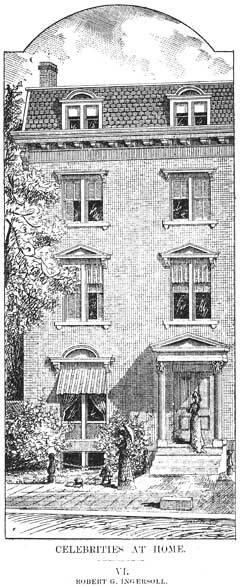 "Ingersoll's Home in 1880 as Depicted in ""The Republic"" Magazine"
